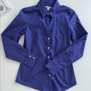 Blue Button Up Top